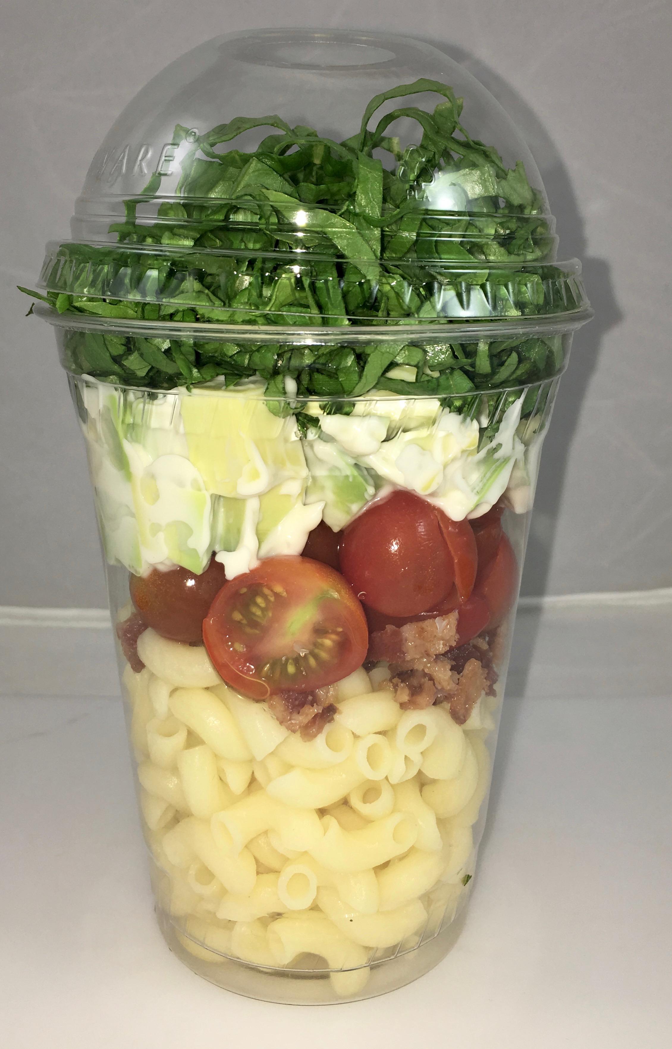 BLTA Gluten Free Pasta Salad Shakers