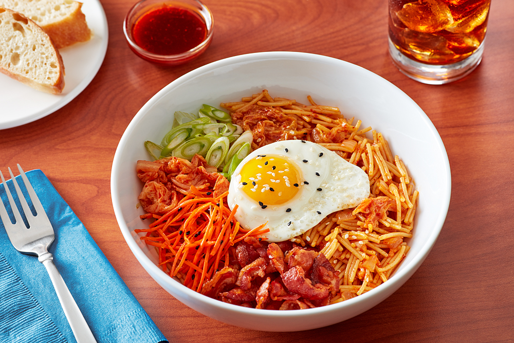 Korean Bibimbap With Barilla Fideo Barilla Pasta Recipes